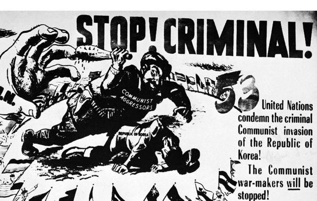 El bando estadounidense también recurrió a la propaganda para justificar su papel en la contienda. AFP/GETTY