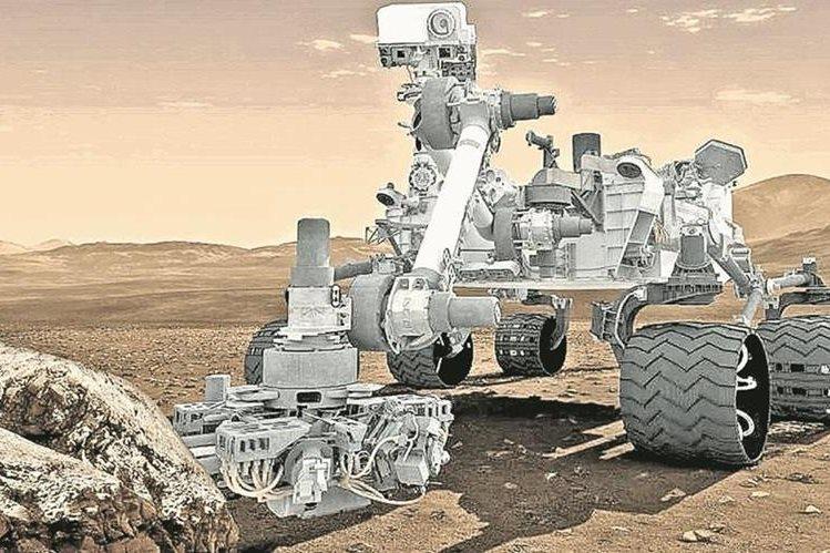 El robot<em> Curiosity</em> ya explora el suelo marciano. (Foto Hemeroteca PL)