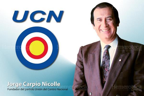 Jorge Carpio Nicolle Político y fundador del Partido UCN -Unión del Centro Nacional- (Fotoarte: Hugo Cuyán Vásquez)