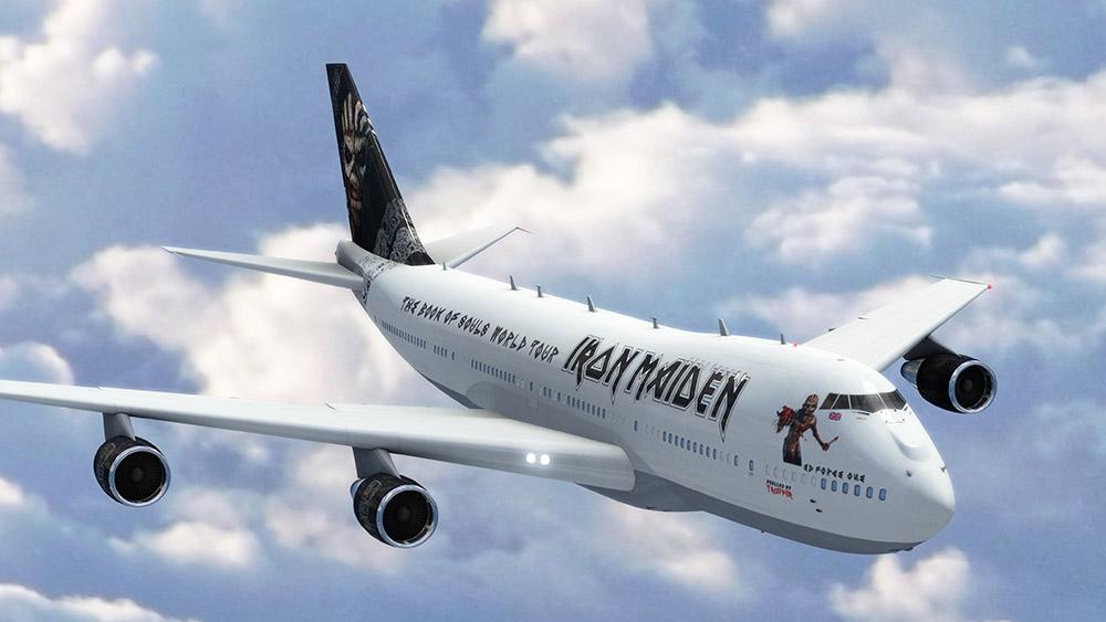 Durante la gira Iron Maiden viajará  en su propio avión. (Foto Prensa Libre: tomada de www.ironmaiden.com)