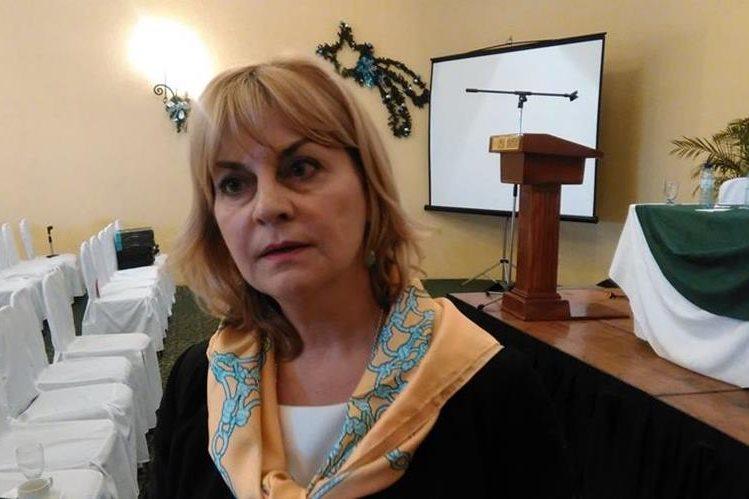 Stella Zervoudaki, embajadora de la delegación de la Unión Europea en Guatemala. (Foto,Prensa Libre: Rosa María Bolaños)
