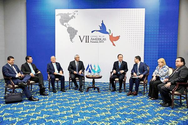 Los presidentes de Centroamérica pidieron a  ONU apoyo para frenar la migración. (Foto Prensa Libre: @CumbrePanamá)