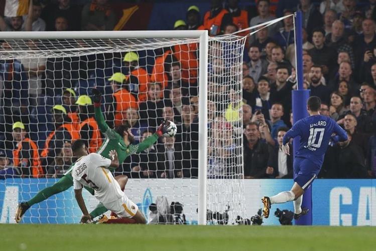 Hazard había anotado el 2-0 parcial para el equipo inglés. (Foto Prensa Libre: AFP)