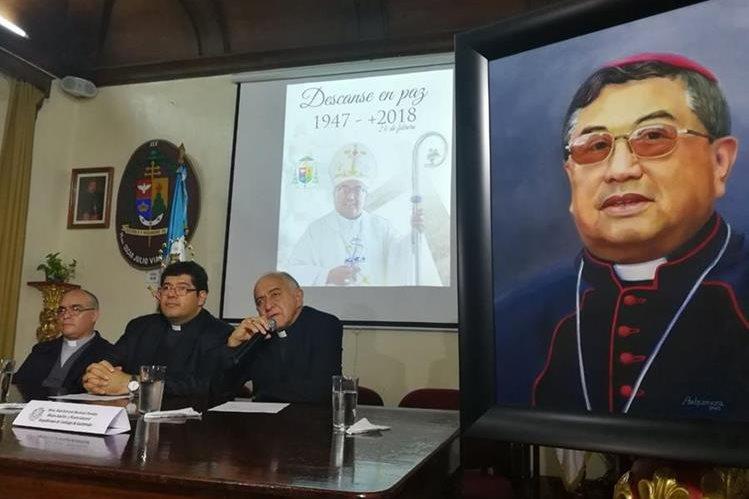 Arzobispado brinda detalles del fallecimiento. (Foto Prensa Libre: Óscar Rivas)