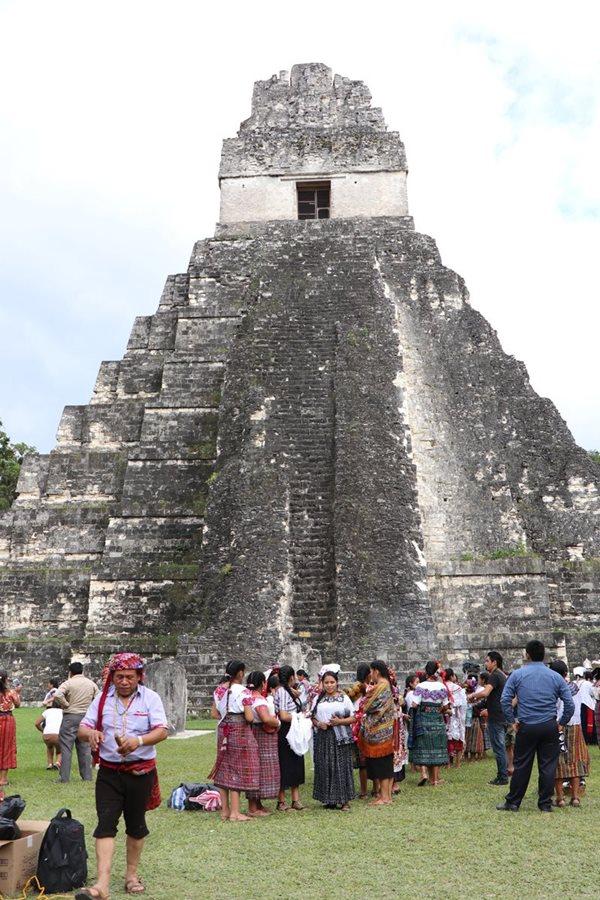 Tikal es el área con mayor afluencia durante esta época. (Foto Prensa Libre: Rigoberto Escobar)