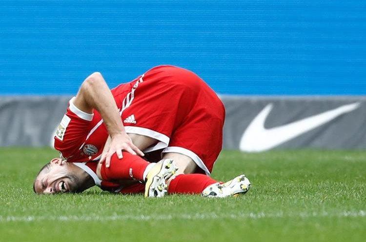Franck Ribery sufrió una lesión en el partido contra el Hertha Berlín. (Foto Prensa Libre: AFP)