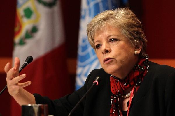 Alicia Barcena es la secretaria ejecutiva de la Cepal.