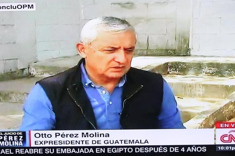 Otto Pérez Molina guarda prisión en la cárcel militar Matamoros. (Foto Prensa Libre: Hemeroteca PL)