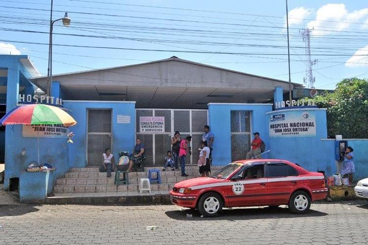 Hospital Regional de Coatepeque, donde estuvo recluido el menor. (Foto Prensa Libre: Alexánder Coyoy).