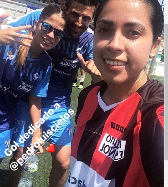 Ana Lucía Martínez dedicó su anotación a su prometido. (Foto Prensa Libre: Instagram)
