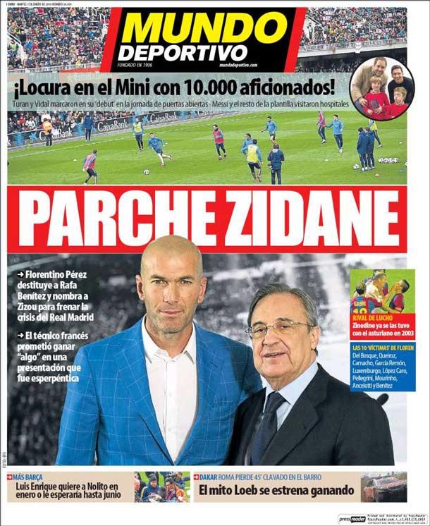 Mundo Deportivo dudaba del éxito de Zidane cuando recién fue presentado. (Foto Prensa Libre: Mundo Deportivo)