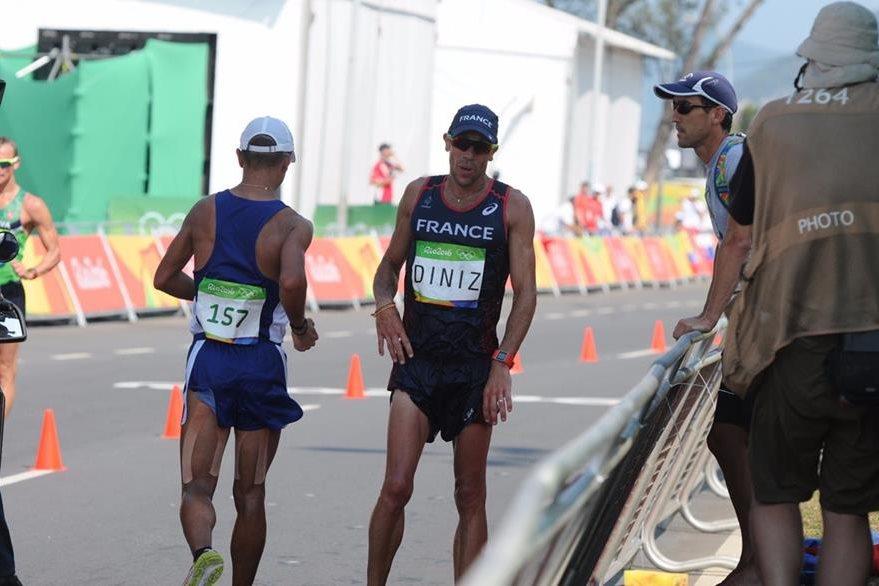 Yohann Diniz continuó la competencia luego de tomar un descanso. (Foto Prensa Libre: Jeniffer Gómez)