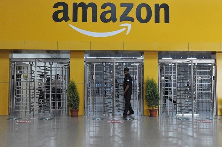 Sede de Amazon en India. (Foto Prensa Libre: AFP)
