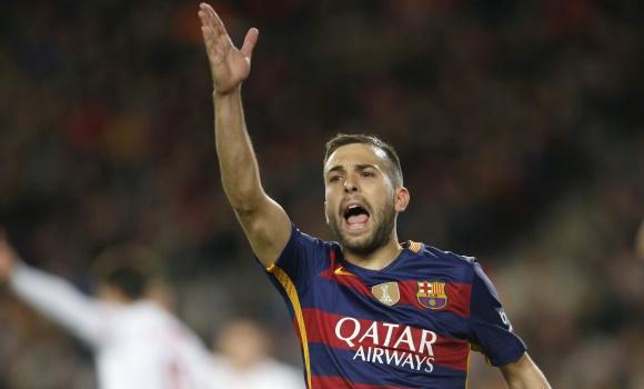 Jordi Alba afirma que seguirá en el Barcelona, hasta que el club lo quiera. (Foto Prensa Libre: Hemeroteca PL)