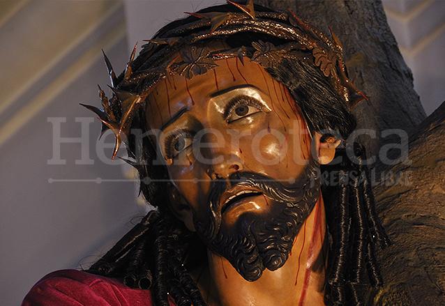 Jesús Nazareno de los Milagros fue restaurado en el año 2016 presentando detalles que se encontraban ocultos como la perfecta anatomía de su cuello e hilos de sangre. (Foto: Néstor Galicia)