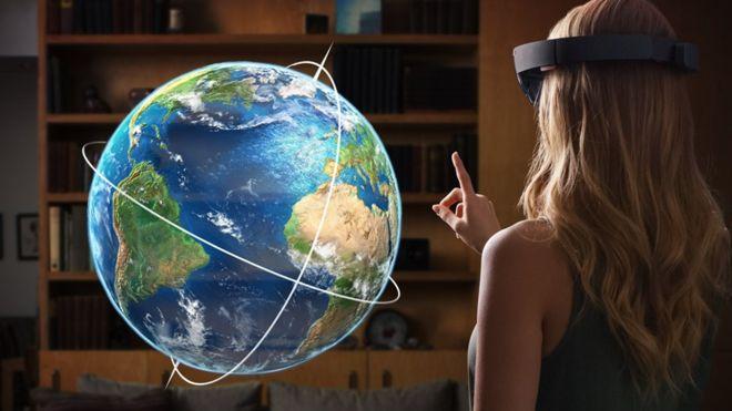 Las gafas HoloLens de Microsoft utilizan realidad aumentada. (MICROSOFT)