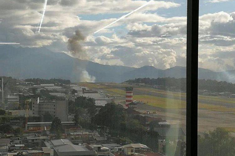 Vista desde el Aeropuerto Internacional La Aurora.