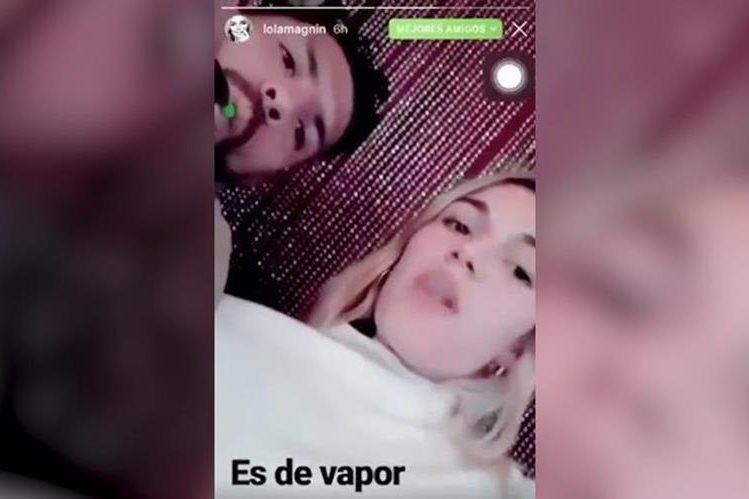 Sergio Agüero aparece en el video que grabaron junto a su novia la modelo Lola Magnin. (Foto Prensa Libre: Redes)