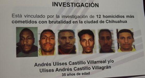 La Procuraduría del Estado de Chihuahua informó del arresto de Andrés Ulises Castillo Villarreal.