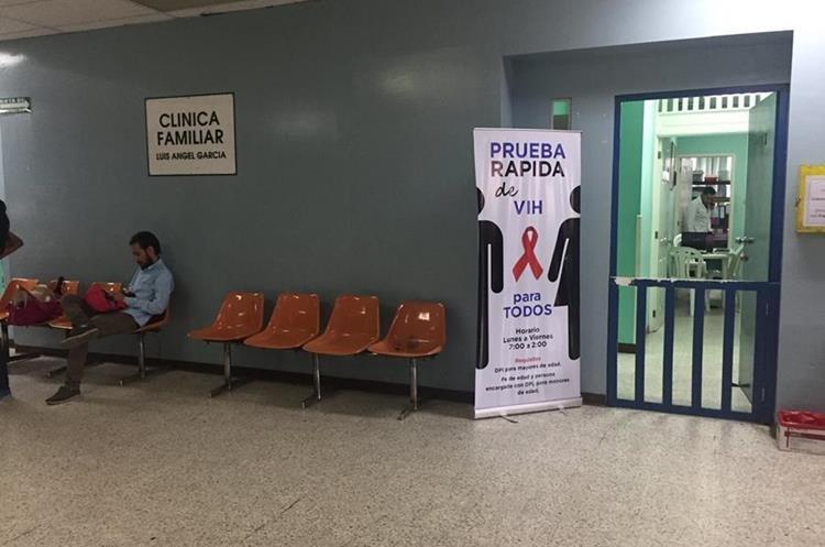 La clínica para atención de pacientes con VIH está desabastecida. (Foto Prensa Libre: Eduardo González)
