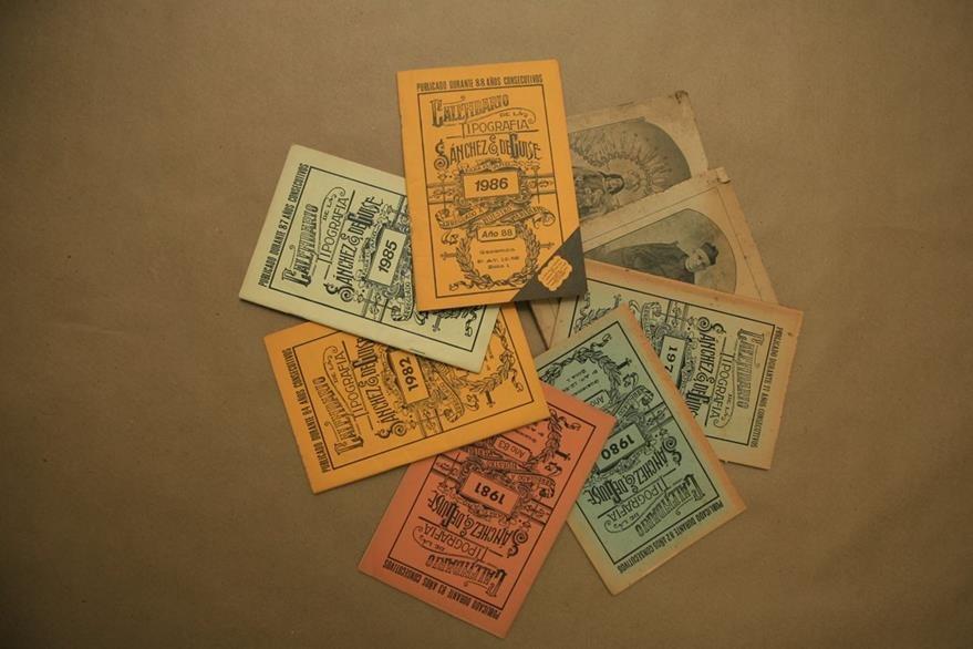 La desaparecida imprenta Sánchez & de Guise produjo durante casi un siglo el calendario. (Foto: Hemeroteca PL)