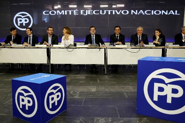 Mariano Rajoy&nbsp; debate con al Comité Ejecutivo Nacional del PP sobre la investidura de Pedro Sánchez.<span> </span>