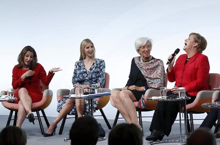 Lideresas participan en encuentro en Alemania. (Foto Prensa Libre: EFE)