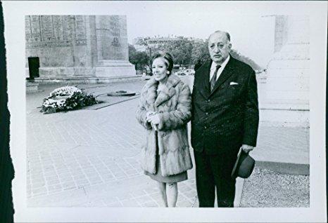 Junto a su segunda esposa, Blanca Mora y Araujo.