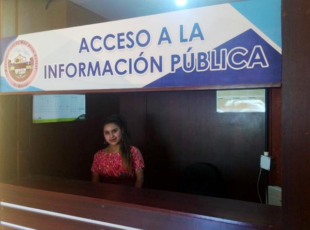 En la Oficina de Acceso de San Juan Cotzal, Quiché, se brinda información pública en Español e Ixil. (Foto Prensa Libre: Óscar Figueroa)