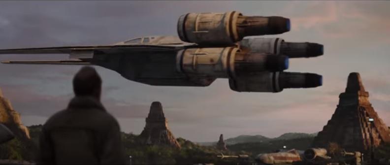 En una de las escenas de Rogue One: A Star Wars Story aparecen ruinas muy similares a las de Tikal, en Petén. (Foto Prensa Libre: YouTube)
