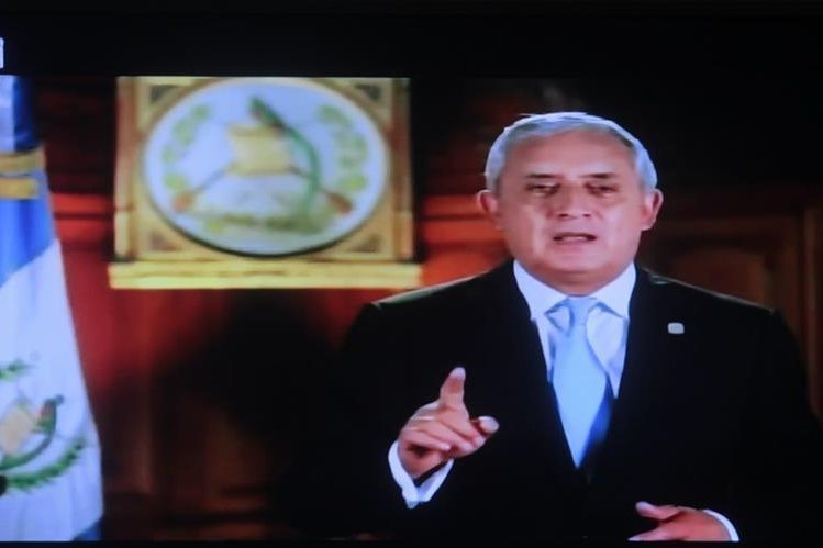 Otto Pérez Molina sigue en la presidencia, con un proceso de antejuicio solicitado en su contra desde el pasado viernes. (Foto Prensa Libre: Hemeroteca PL)