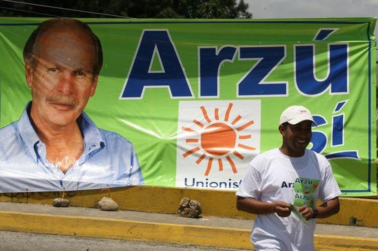 El Alcalde Álvaro Arzú también fue creador del partido político Unionista.