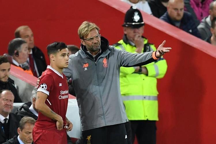 Jurgen Klopp asegura que Philippe Coutinho ya se encuentra preparado para jugar un partido completo con el Liverpool. (Foto Prensa Libre: AFP)