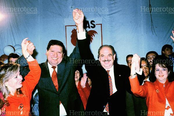 Serrano Elías  y Espina Salguero, en 1991. (Foto PL: Hemeroteca)