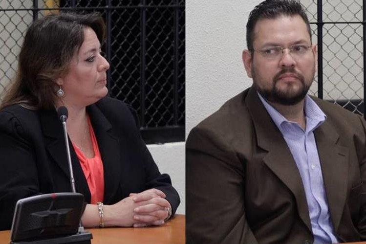 José Bolaños y Astrid Zachrisson escuchan sentencia en tribunales de Quetzaltenango. (Foto Prensa Libre: María José Longo)