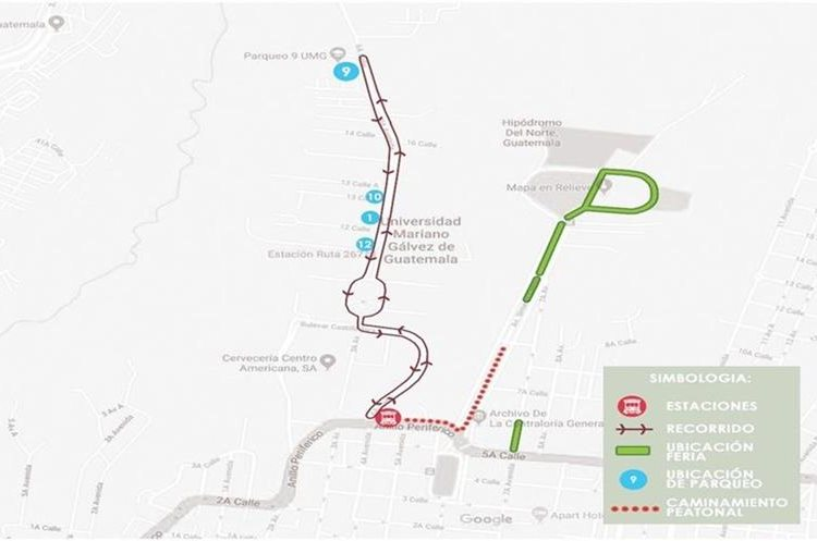 ¿Sabe dónde estacionar su vehículo si visita la Feria de Jocotenango en la zona 2?