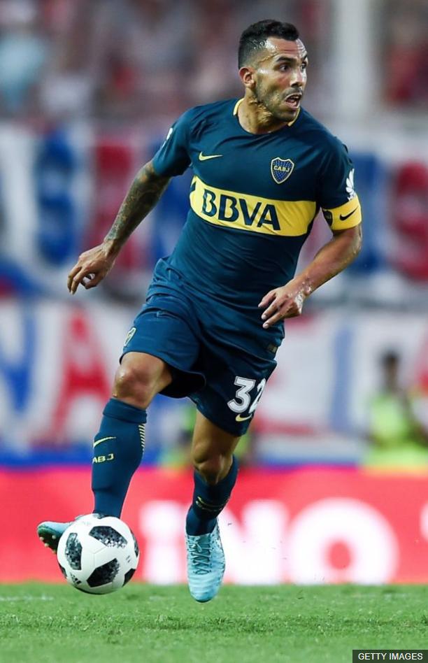 """Tévez regresó a Boca Juniors tras pasar un año de """"vacaciones"""" en el fútbol chino. (Foto Prensa Libre: BBC Mundo)"""
