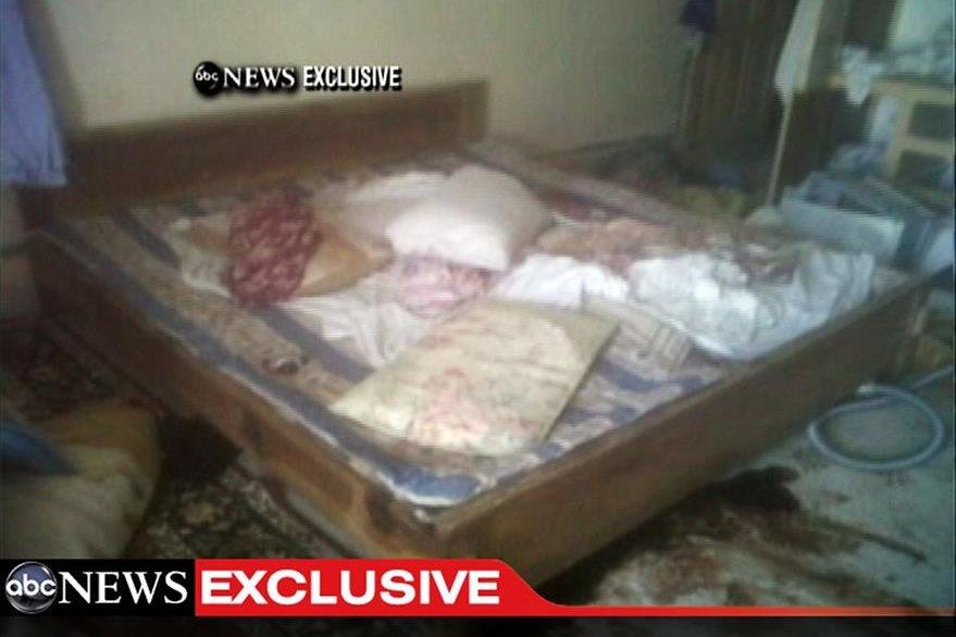 Captura de un video publicado por ABC News donde aparece una sección del cuarto donde fue localizado Osama Bin Laden. (Foto: AP)