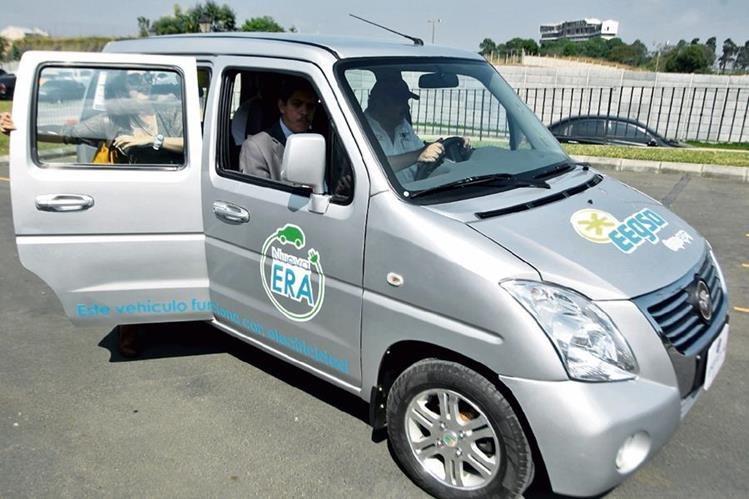 Este es el primer carro eléctrico que EEGSA empleará en su programa piloto.