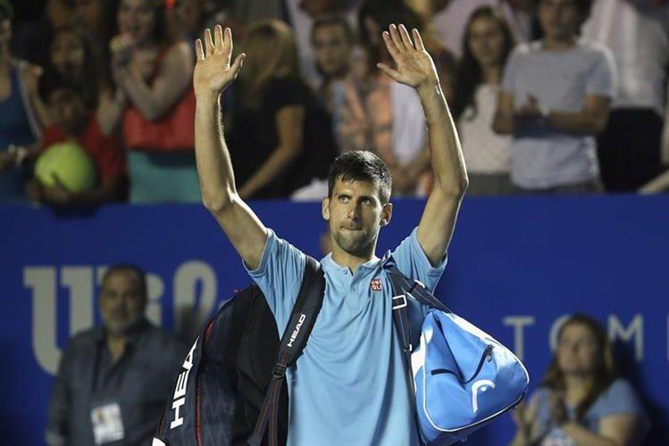 Novak Djokovic fue eliminado en los cuartos de final del torneo de Acapulco. (Foto Prensa Libre: AP)