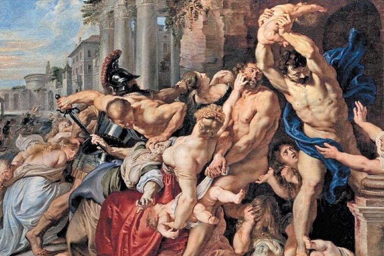 Este hecho fue plasmado a principios del siglo XVII por Peter Paul Rubens en la Matanza de los Santos Inocentes, que se encuentra en la Galería de Arte de Ontario, Toronto, Canadá.