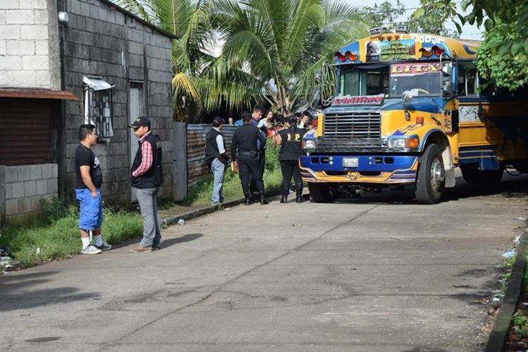 Lugar donde ocurrió el ataque en la colonia Prados del Carmen, Escuintla. (Foto Prensa Libre: Enrique Paredes).