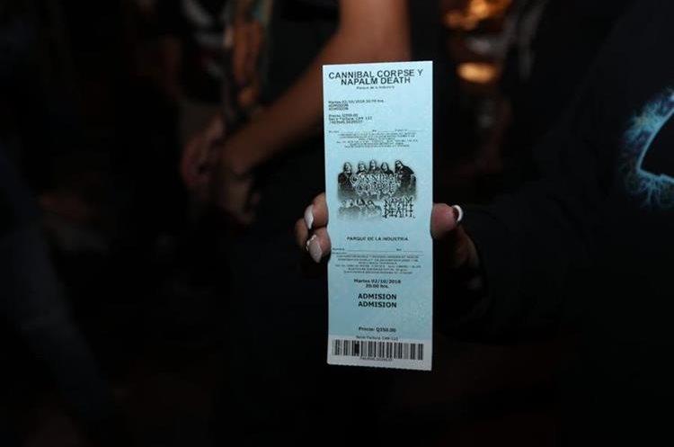 """El concierto de Cannibal Corpse y Napalm Death fue suspendido """"sin motivos aparentes"""", según los organizadores (Foto Prensa Libre: Óscar Rivas)."""