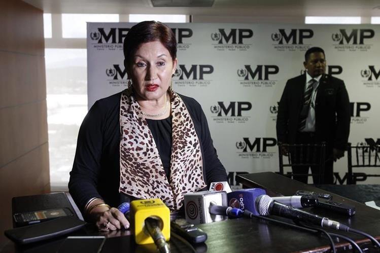 La Fiscal General, Thelma Aldana anunció en Quetzaltenango que en los próximos días pedirá la audiencia en el órgano contralor para que lleguen los familiares del Presidente. (Foto Prensa Libre: Hemeroteca PL)