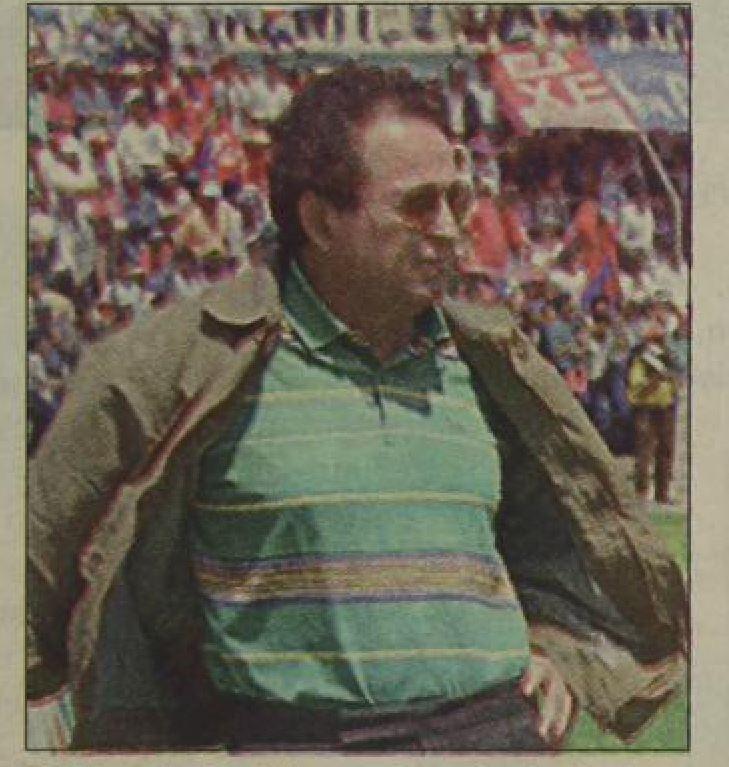 Marvin Rodríguez en su etapa como técnico de Xelajú MC plantel que hizo campeón en 1996. (Foto Prensa Libre: Hemeroteca PL)