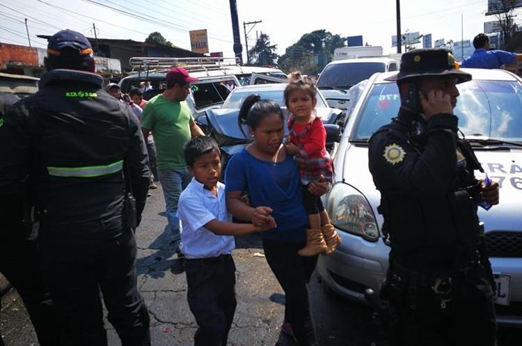 A la hora que se produjo el accidente varios niños volvían del colegio a sus casas