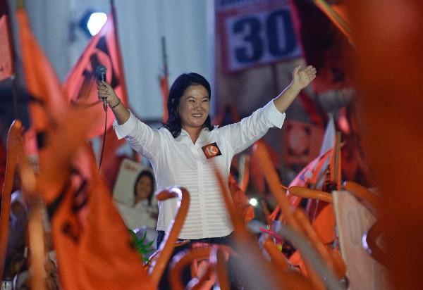&nbsp;<span>Keiko</span> <span>Fujimori</span> participa en un mitin de cierre de campaña.(AFP)