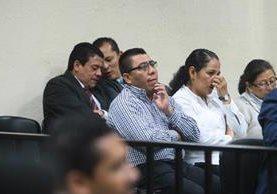 Sindicados en caso Hogar Seguro en segundo día de audiencia de primera declaración. (Foto Prensa Libre: Álvaro Interiano)