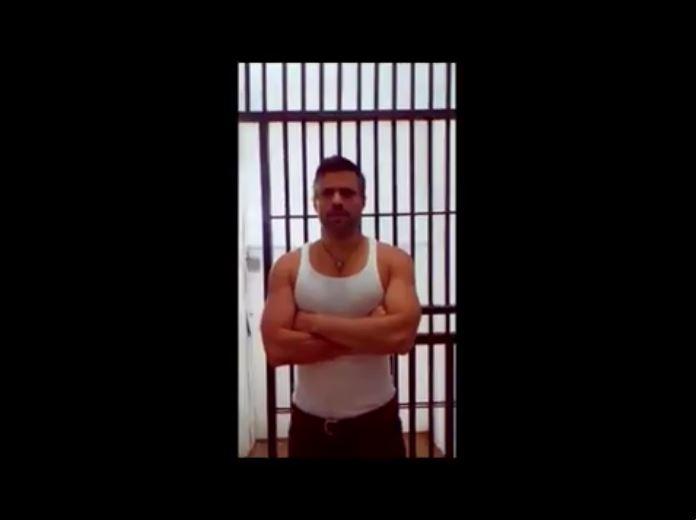 Imagen del video de Leopoldo López difundido por el Gobierno venezolano. Foto Prensa Libre: Twitter.