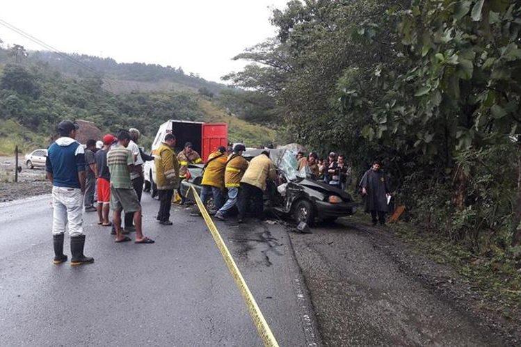 Lugar donde se registró la tragedia en Los Amates, Izabal. (Foto Prensa Libre: Dony Stewart)